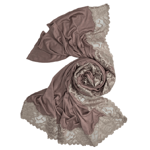 SCARVES COTTON SILK WITH DANTEL ENDS