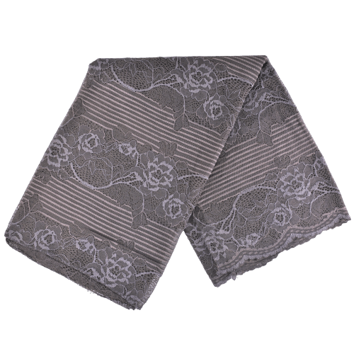 SCARVES WITH FLORAL LACE DESIGN