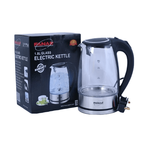 ELECTRIC KETTLE 1.8L GLASS FANAR