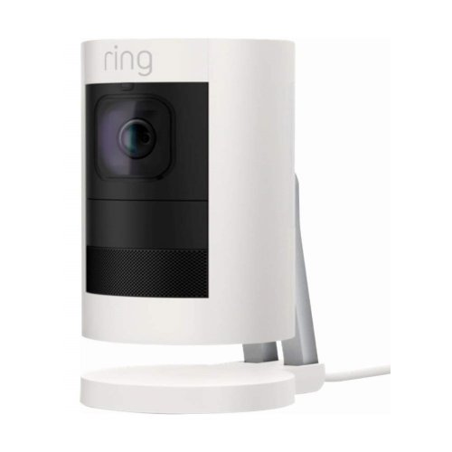 SECURITY CAMERA RING STICK UP CAMERA WIRED WHITE