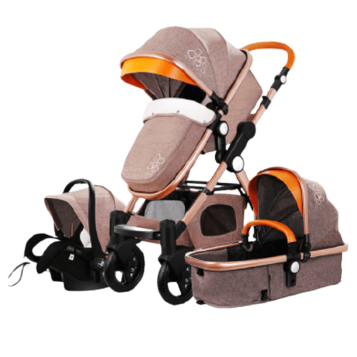 BABY STROLLER 3 IN 1 CARRYCOT AND CAR SEAT EUROPEAN STANDARD 0-3Y/O