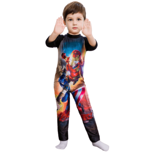 AVENGERS SWIMWEAR FOR BOYS WITH LONG SLEEVES