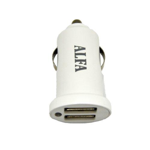 CAR CHARGER 2 USB 2.4 MAH AF-90 ALFA