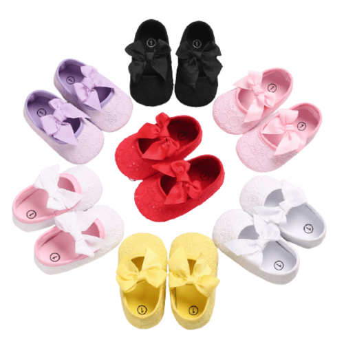 SOFT BOTTOM SHOES FOR TODDLER BABY PRINCESS 0-6M