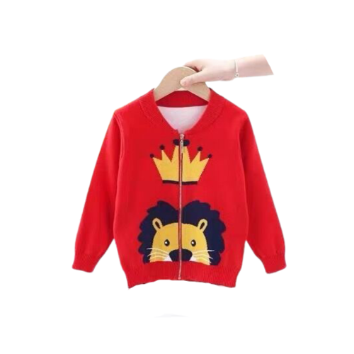 CARDIGAN SWEATER WITH ZIPPER FOR KIDS