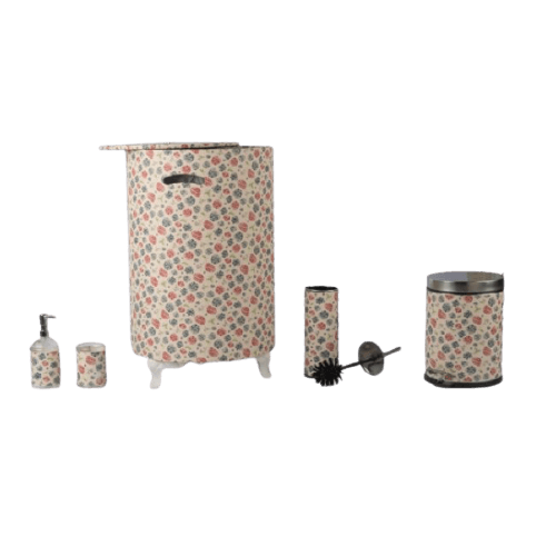 FLORAL BATHCAN ACCESSORIES WITH BOX