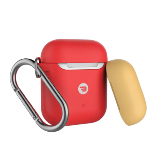 BAYKRON AIRPOD SILICONE CASE RED + YELLOW CAP