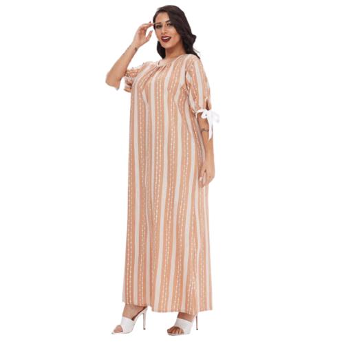 MUSLIM SLEEPWEAR ROUND NECK DRESS