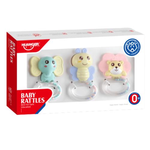 BABY RATTLES TEETHER SET 3 PCS