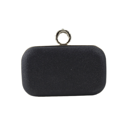 WOMEN CLUTCH BAG FINGER RING WITH GLITTERS
