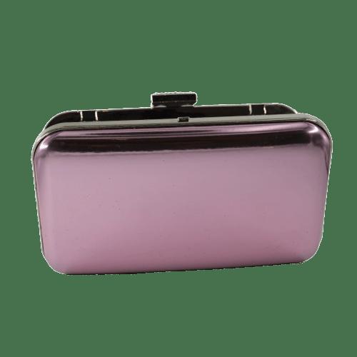 WOMEN CLUTCH BAG WITH METALLIC COLOR DESIGN