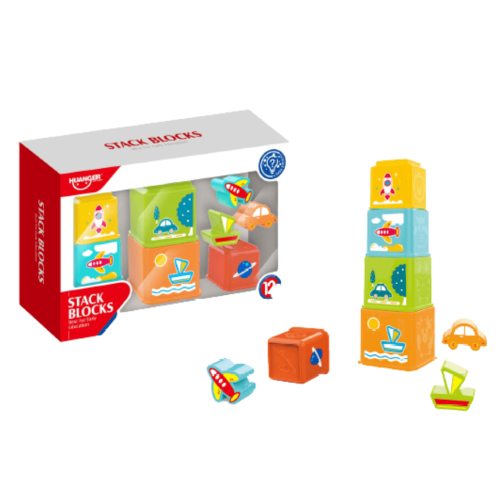 STACKING BLOCK CUPS BABY TOYS