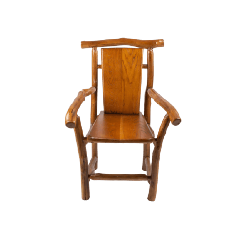 WOOD HANDMADE CHAIR WITH ELBOW