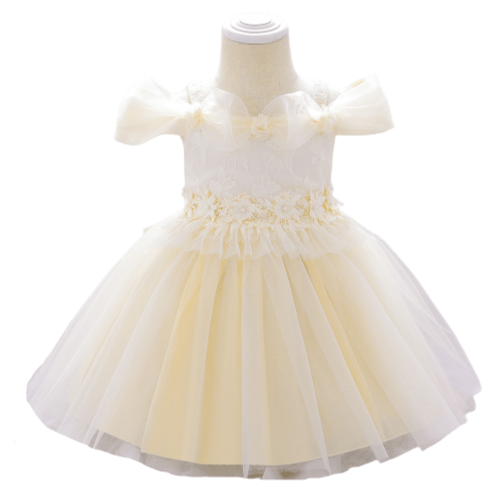 SUMMER BALL GOWN WITH FLOWERS FOR GIRLS 6M-18MONTHS
