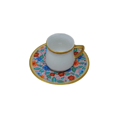 COFFEE CUP SET WITH GOLDEN HAND