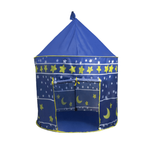 TENT INDOOR/OUTDOOR PLAY BLUE CASTLE DESIGN