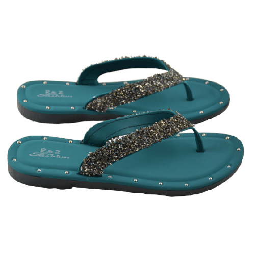 WOMEN'S SLIPPERS WITH SWAROVSKI CRYSTALS