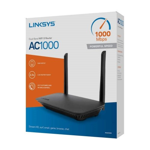 DUAL-BAND WIFI 5 ROUTER WITH 4 FAST ETHERNET PORTS & 2 ANTENNAS AC1000 LINKSYS