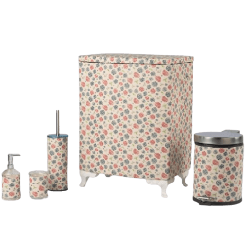 FLORAL PASTEL BATHROOM ACCESSORIES WITH BOX