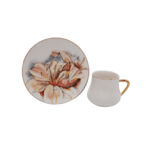 COFFEE CUP SET WITH SAUCERS