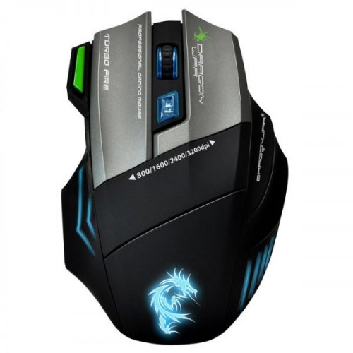 GAMING MOUSE DRAGONWAR G9 THOR 3200 DPI LED WITH MOUSE PAD 360 X 250MM