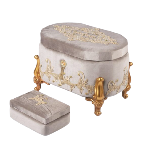 BRIDE BOX WITH GOLDEN FRAME AND LEG STAND