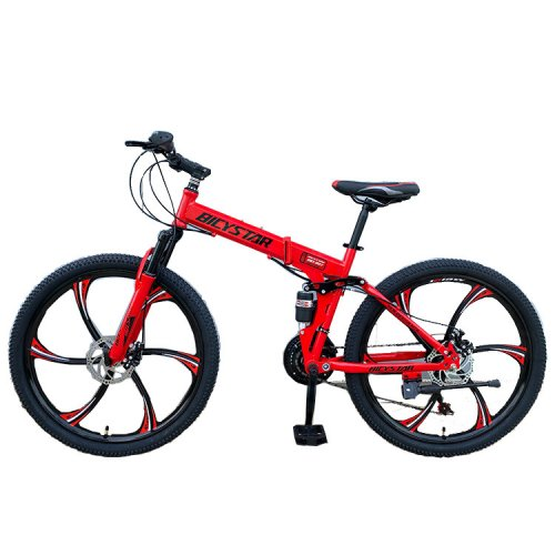 BICYCLE FOLDING MOUNTAIN 26 INCH RED