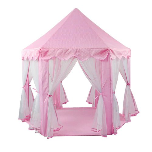 PLAY TENT CASTLE PLAYHOUSE HEXAGON FOR KIDS