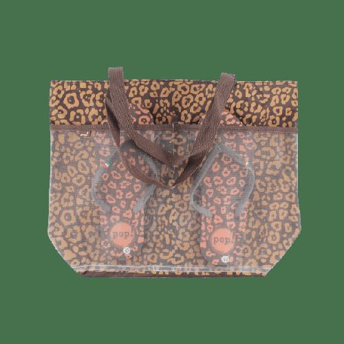 WOMEN BEACHWEAR COMBO SLIPPERS & BAG OFFER MODEL 1  BROWN