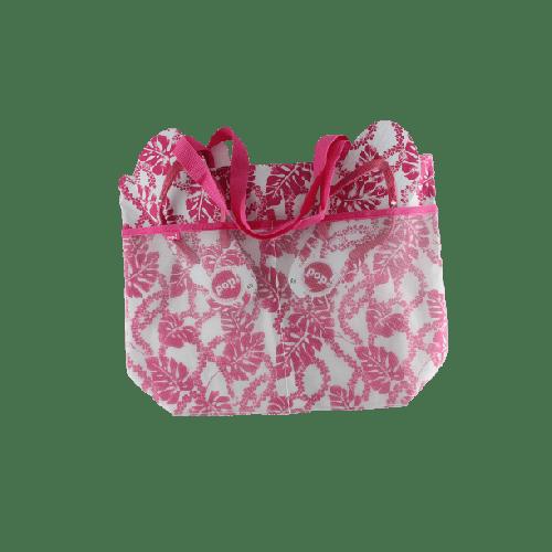 WOMEN BEACHWEAR COMBO SLIPPERS AND BAG OFFER MODEL 1  PINK