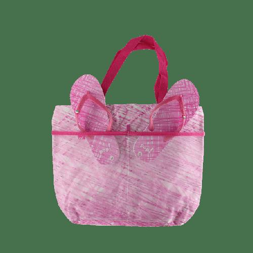 WOMEN BEACHWEAR COMBO SLIPPERS & BAG OFFER MODEL 1 (PINK-026)