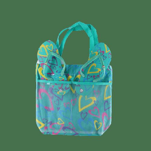BEACHWEAR COMBO SLIPPERS & BAG OFFER MODEL 2 BLUE