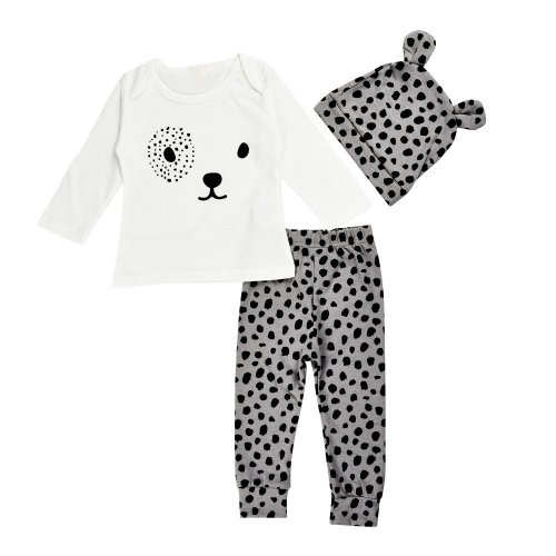 LONG SLEEVE SHIRT WITH PANTS AND HAT FOR NEWBORN BABY