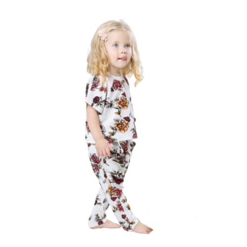 FLORAL T-SHIRT AND PANTS FOR BABY