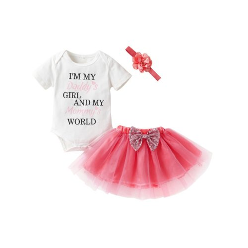 TUTU OUTFIT DRESS WITH HEADBAND FOR BABY