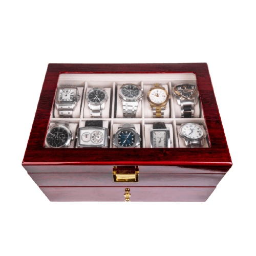 LUXURY WATCHES WOODEN BOX WITH DRAWER