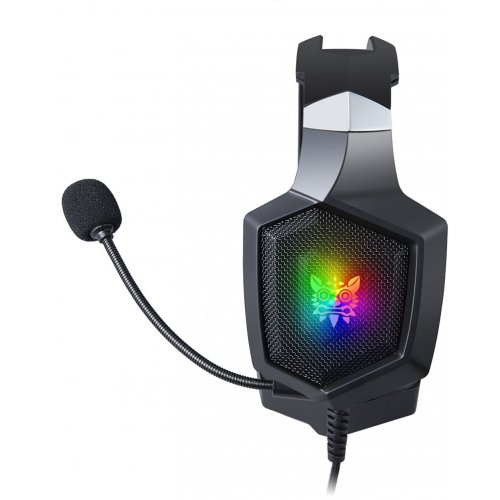 GAMING HEADSET K8 PROFESSIONAL WITH LED LIGHTS AND NOISE CANCELLATION MICROPHONE BLACK ONIKUMA