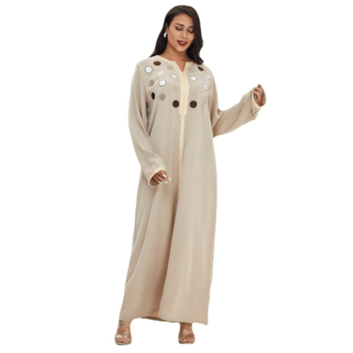 SPRING AND AUTUMN LONG DRESS MIDDLE EAST ROBE