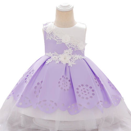 PARTY DRESS LACE FLOWER FOR BABY GIRLS 18-24M