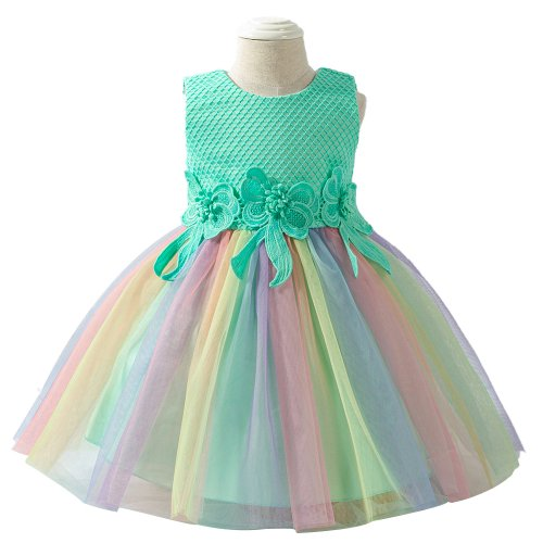 PARTY DRESS FROCKS GREEN FOR BABY GIRLS 6M-18MONTHS