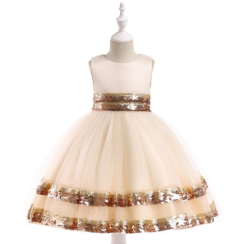 MINI FROCK DRESS FOR GIRLS CHAMPAGNE FOR 3-5Y/O