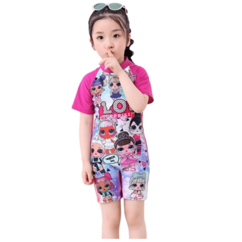 SWIMWEAR FOR GIRLS WITH LOL DESIGN AND SHORT SLEEVES