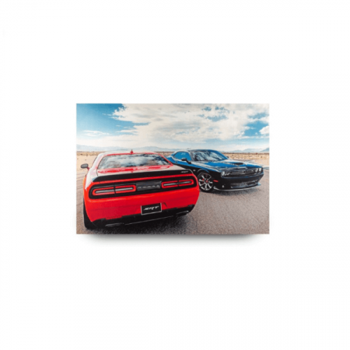 RED AND BLUE CARS CANVAS PHOTO FRAME