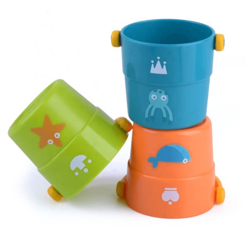 COLORFUL STACK BUCKETS 3 PCS
