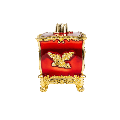 DECORATION PLASTIC BOXES GOLD WITH RED