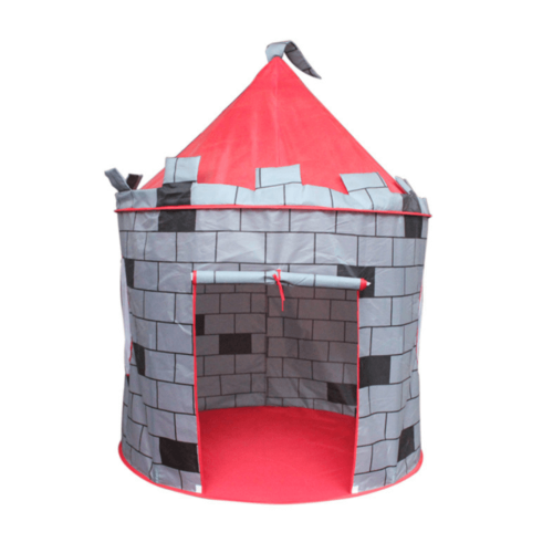 KIDS PLAY TENT IN CASTLE GRAY DESIGN