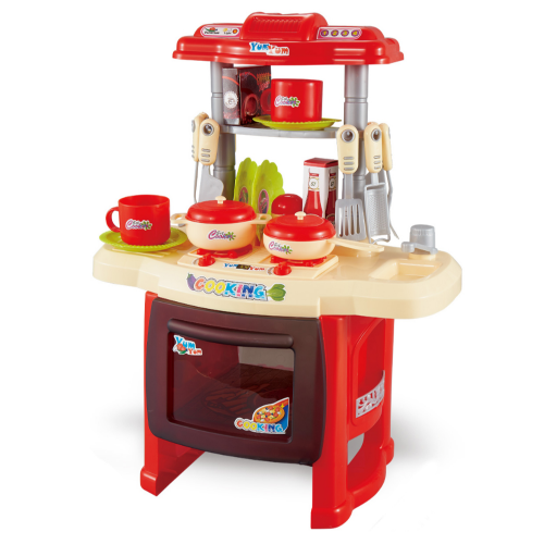 KIDS KITCHEN SET WITH LIGHT AND MUSIC RED