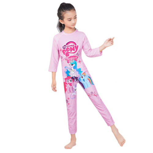 LITTLE PONY PRINT ON SWIMWEAR FOR GIRLS WITH LONG SLEEVES