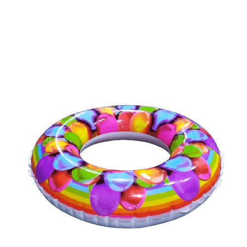 INFLATABLE CHILDREN SWIMMING RING MULTI COLOR