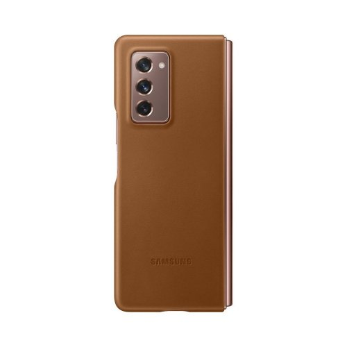SAMSUNG LEATHER COVER BROWN FOR GALAXY Z FOLD2 EFVF916LAEGWW